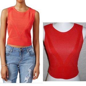 NWT RACHEL Rachel Roy Orange Knit Crop Top Size: S